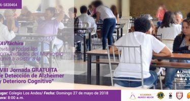 8.a Jornada Gratuita de Detección de Alzheimer y Deterioro Cognitivo